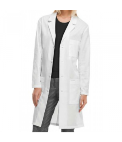 Cherokee long unisex lab coat with Certainty - White - 2X