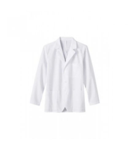 Meta mens consultation length lab coat - White - S