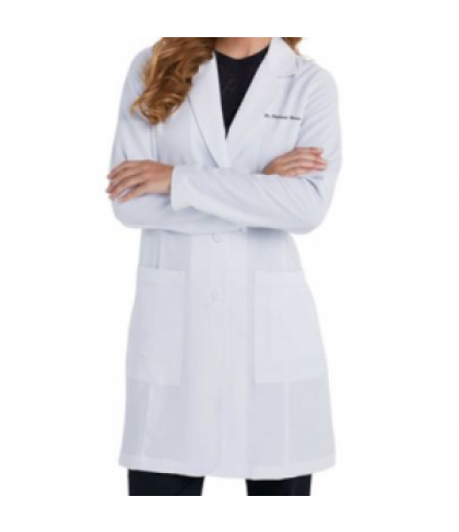 Greys Anatomy Signature Soft Stretch Lab Coat w tablet pocket - White - XS