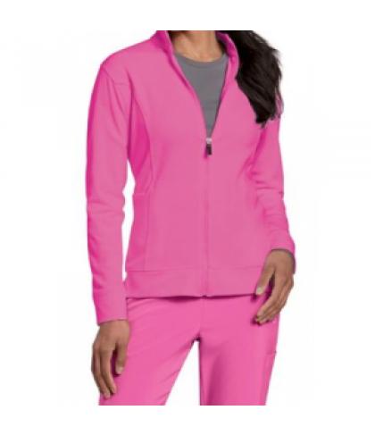 Urbane Performance Breast Cancer Awareness media scrub jacket - Cotton candy - XL