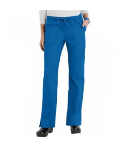 Cherokee Workwear Core Stretch mid-rise slim drawstring scrub pant - Royal - PXL