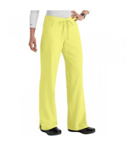Greys Anatomy 5-pocket drawstring scrub pant - Citron - PXS
