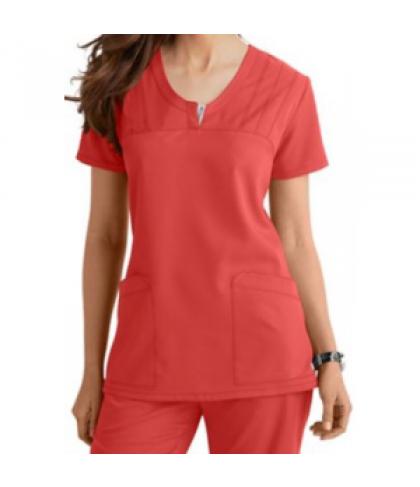 Greys Anatomy v-neck 2-pocket scrub top - Nectarine - 3X