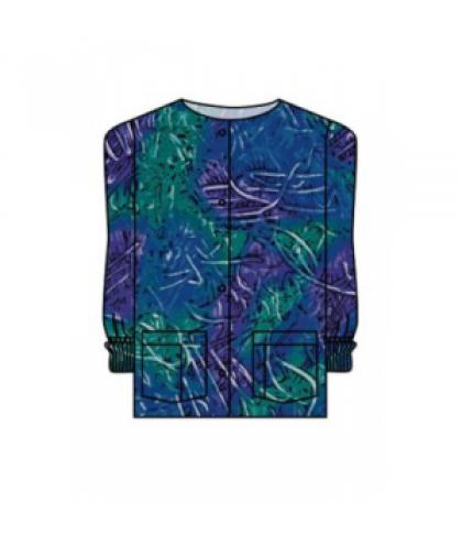 Landau Finger Paint print scrub jacket - Finger Paint - M