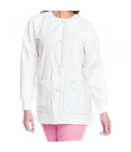 Landau tie back warmup jacket - White - M