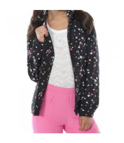 HeartSoul Twilight Flight print scrub jacket - Twilight Flight - L