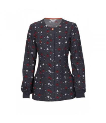 Code Happy Happy Lady print scrub jacket with Certainty - Happy Lady - XS