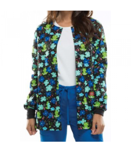 Dickies EDS Froggy Floral print scrub jacket - Froggy Floral - M