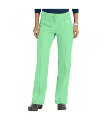 Greys Anatomy 3 pocket yoga knit waistband scrub pant - Honey Dew - PS
